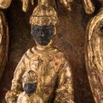 Portrait de Vierge noire dans sa niche