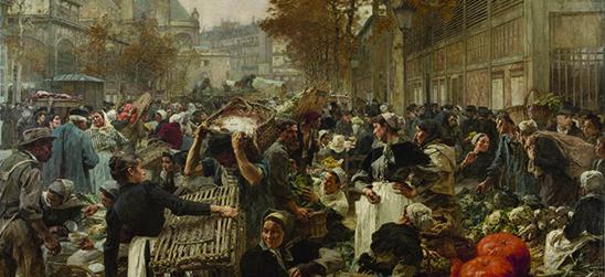 """Jeudi 8 octobre / Cours d'Art / """"Le ventre de Paris"""" des étals aux Grandes Halles"""